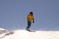 Snowboarder - pijper. Stock Afbeeldingen