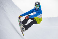 Snowboarder. A piture of a snowboarder in the italian alps Royalty Free Stock Image