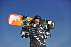 Snowboarder portrait Royalty Free Stock Image