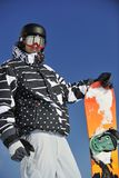 Snowboarder portrait Stock Photos