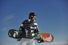 Snowboarder portrait Royalty Free Stock Images