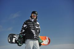 Snowboarder portrait Stock Image