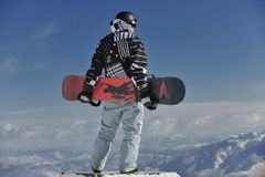 Snowboarder portrait Stock Photography