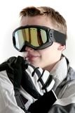 Snowboarder portrait Stock Photo