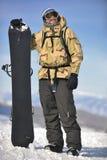 Snowboarder portret Fotografia Stock