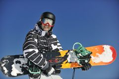 Snowboarder portret Fotografia Royalty Free