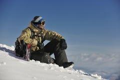 Snowboarder portret Obraz Royalty Free