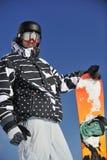 Snowboarder portret Zdjęcia Stock