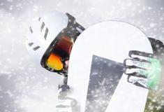 Snowboarder portret Zdjęcia Royalty Free