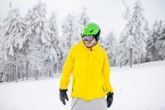 Snowboarder portret outdoors Fotografia Royalty Free