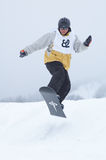 Snowboarder in race Royalty Free Stock Photos