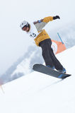 Snowboarder in race Royalty Free Stock Image