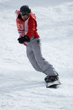 Snowboarder on race Stock Photos