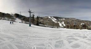 Snowboarder ` s zimy raj Obrazy Royalty Free