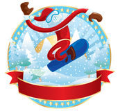 Snowboarder Santa Stock Photos