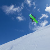 Snowboarder in the sky Royalty Free Stock Photography