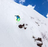 Snowboarder in the sky Stock Photography