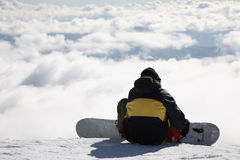 Snowboarder on slope Stock Photos