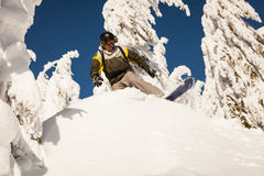 Snowboarder on the slopes Stock Image