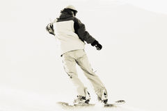 Snowboarder on snow Stock Photos