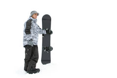 Snowboarder and snowboard Stock Photo