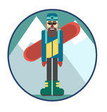 Snowboarder. Snowboarding is great! How nice sometimes to get to the mountains Stock Photos