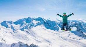 Snowboarder, Solden, Αυστρία, ακραίος χειμερινός αθλητισμός στοκ φωτογραφία με δικαίωμα ελεύθερης χρήσης