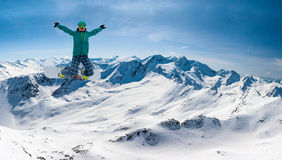 Snowboarder, Solden, Austria, extreme winter sport Stock Image