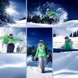 Snowboard mix Stock Photos