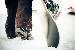 Snowboarder. traversa-elaborare effetto immagine stock libera da diritti