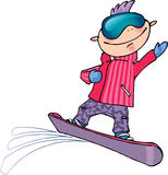 Snowboarder Vector Illustration stock photos