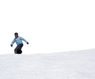 Snowboarder on white background Stock Photos