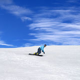 Snowboarder in winter mountains Stock Photography