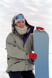 Snowboarder woman Stock Images