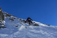 Snowboarder zamknięty - up Obraz Royalty Free
