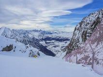 Snowboarder zamknięty - up Zdjęcie Stock