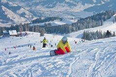Snowboarder, Zell am See. Austria Stock Images