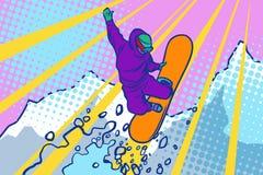 Snowboarderbanhoppning, vintersportar, aktiv livsstil Royaltyfria Bilder