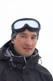 Snowboarderportrait Stockfotografie