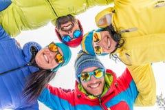 Snowboarders принимая selfie Стоковая Фотография RF
