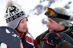 snowboarders уклада жизни изображения 2 детеныша Стоковое Изображение RF