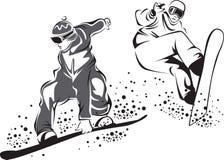 Snowboarders Fotografia Stock