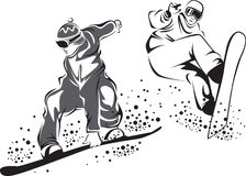 snowboarders Arkivbild