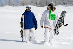 Snowboarders Photographie stock