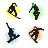 Snowboarders photo stock