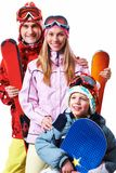 Snowboarders Stock Photography