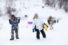 Snowboarders Stock Foto