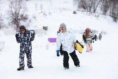 Snowboarders στοκ εικόνες