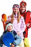 Snowboarders Stockbild