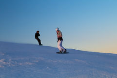 Snowboarders Royalty Free Stock Images